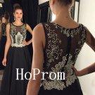 Floor Length Prom Dress,Crystals Prom Dresses,Long Evening Dress