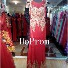 Floor Length Prom Dress,Elegant Applique Prom Dresses,Evening Dress