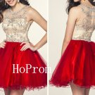 Sleeveless Red Prom Dress,Short Mini Prom Dresses,Evening Dress