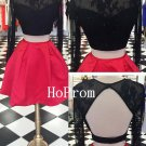 Two Piece Homecoming Dress,Lace Short Homecoming Dresses,Prom Dress