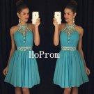 Halter Chiffon Homecoming Dress,Short Mini Homecoming Dresses,Prom Dress