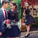 Long Sleeve Homecoming Dress,Lace Short Homecoming Dresses,Prom Dress