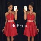 A-Line Homecoming Dress,Halter Short Homecoming Dresses,Prom Dress