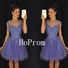 Sleeveless Homecoming Dress,Short Tulle Homecoming Dresses,Prom Dress