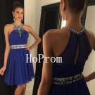 A-Line Homecoming Dress,Halter Short Homecoming Dresses,Prom Dress