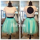Two Piece Homecoming Dress,Short Sleeve Homecoming Dresses,Prom Dress