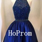 High Neck Homecoming Dress,Royal Blue Homecoming Dresses,Prom Dress
