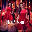 Sleeveless Red Homecoming Dress,Short Homecoming Dresses,Prom Dress