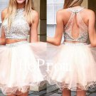 Backless Beaded Homecoming Dress,Short Homecoming Dresses,Prom Dress