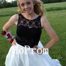 Lace Chiffon Homecoming Dress,Short Homecoming Dresses,Prom Dress