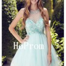 Sleeveles Tulle Homecoming Dress,Beading Homecoming Dresses,Prom Dress