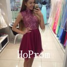Sleeveless Short Homecoming Dress,Beaded Homecoming Dresses,Prom Dress