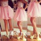 Sweetheart Crystal Homecoming Dress,Corset Homecoming Dresses,Prom Dress