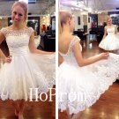 White Lace Homecoming Dress,Tulle Short Homecoming Dresses,Prom Dress