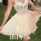 V-Neck Homecoming Dress,Straps Homecoming Dresses,Prom Dress