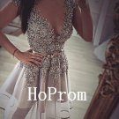 V-Neck Homecoming Dress,Sexy Homecoming Dresses,Prom Dress