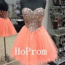 Short Tulle Homecoming Dress,Strapless Homecoming Dresses,Prom Dress