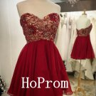 A-Line Homecoming Dress,Red Homecoming Dresses,Prom Dress