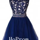 Applique Short Homecoming Dress,Tulle Homecoming Dresses,Prom Dress