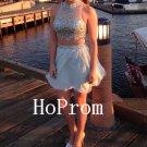 Two Piece Homecoming Dress,Short Mini Homecoming Dresses,Prom Dress