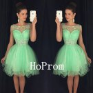 A-Line Homecoming Dress,Green Tulle Homecoming Dresses,Prom Dress