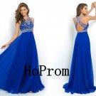 Royal Blue Prom Dress,Backless Prom Dresses,Evening Dress