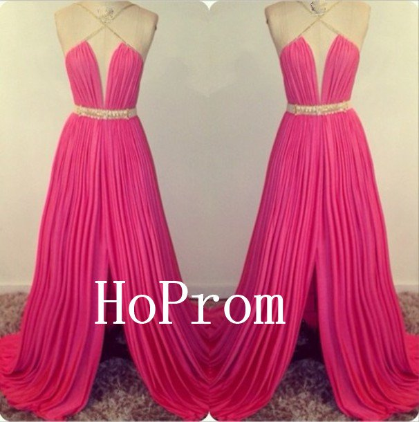 Fushica Chiffon Prom Dress,Long Prom Dresses,Evening Dress