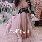 Long Sleeve Prom Dress,V-Neck Prom Dresses,Evening Dress