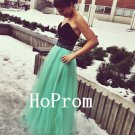 Green Tulle Prom Dress,Sweetheart Prom Dresses,Evening Dress
