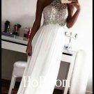 High Neck Prom Dress,Halter Prom Dresses,Evening Dress