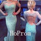 Long Sleeve Prom Dress,Mermaid Prom Dresses,Evening Dress