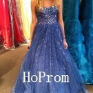 Sweetheart Long Prom Dress,Beading Prom Dresses,Evening Dress