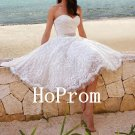 Knee Length Prom Dress,Sweetheart White Prom Dresses,Evening Dress