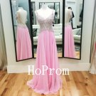Beaded Straps Prom Dress,Straps Prom Dresses,Evening Dress