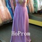 Spaghetti Straps Prom Dress,Chiffon Prom Dresses,Evening Dress
