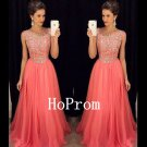 A-Line Sleeveless Prom Dress,Beaded Prom Dresses,Evening Dress