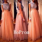 A-Line Prom Dress,Sequin Prom Dresses,Evening Dress