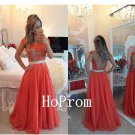 Lace Applique Prom Dress,Chiffon Long Prom Dresses,Evening Dress