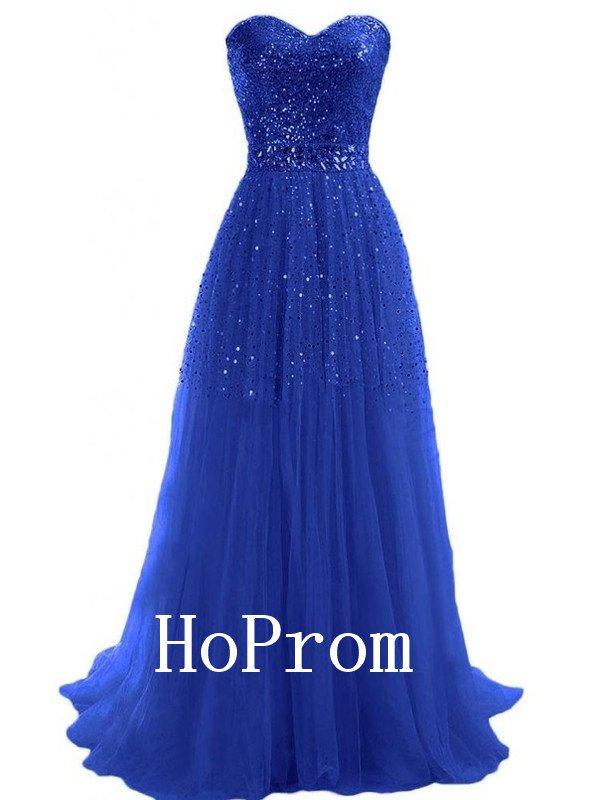 Sweetheart Prom Dress,A-Line Prom Dresses,Long Evening Dress