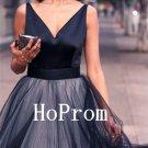 A-Line Prom Dress,V-Neck Prom Dresses,Evening Dress