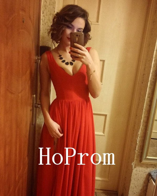V-NeckProm Dress,Sleeveless Prom Dresses,Evening Dress