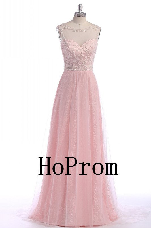 Lovely A-Line Prom Dress,Pink Prom Dresses,Evening Dress
