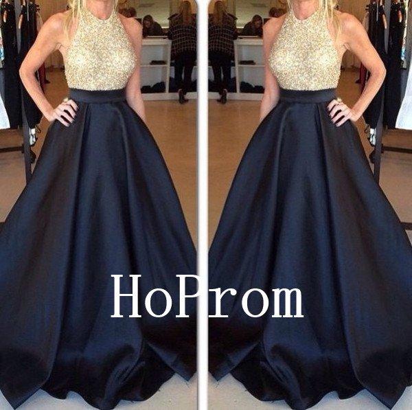 Halter Sparkly Prom Dress,A-Line Prom Dresses,Evening Dress
