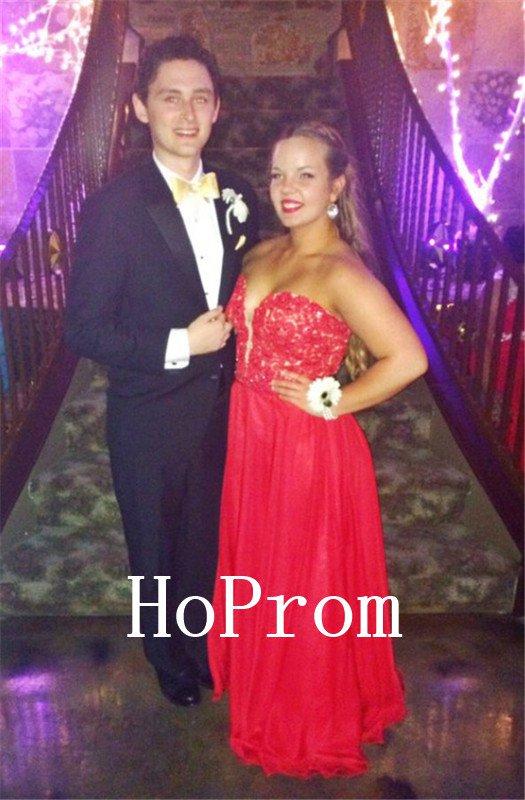 A-Line Sweetheart Prom Dress,Applique Prom Dresses,Evening Dress