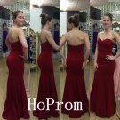 Simple Satin Prom Dress,Sweetheart Prom Dresses,Evening Dress