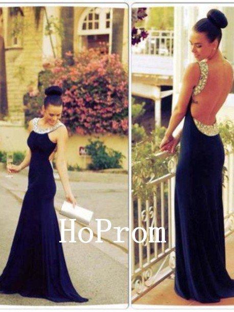 Open Back Prom Dress,Mermaid Prom Dresses,Evening Dress