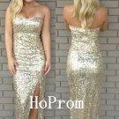 Strapless Sequins Prom Dress,Sparkly Prom Dresses,Evening Dress