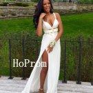 Simple White Prom Dress,Sexy Prom Dresses,Evening Dress