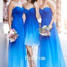 Royal Blue Prom Dress,Chiffon Prom Dresses 2017