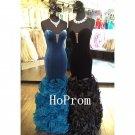 Sweetheart Prom Dress,Velvet Ruffles Prom Dresses 2017